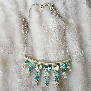 Swarovski Touchstone Blue & Green Crystal Necklace